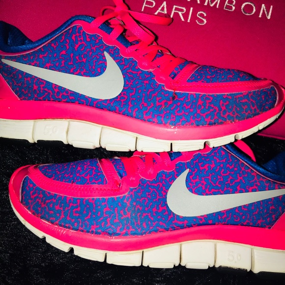 newest c498c a2af3 Hot pink Royal Blue Nike Free 5.0 💝💙. M_5b09cee446aa7c9eb12db7f7